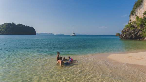 Hidden beaches only accessible with yachts
