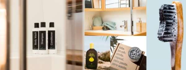 Toiletries and sunscreen eco-friendly and provided on Viramar!