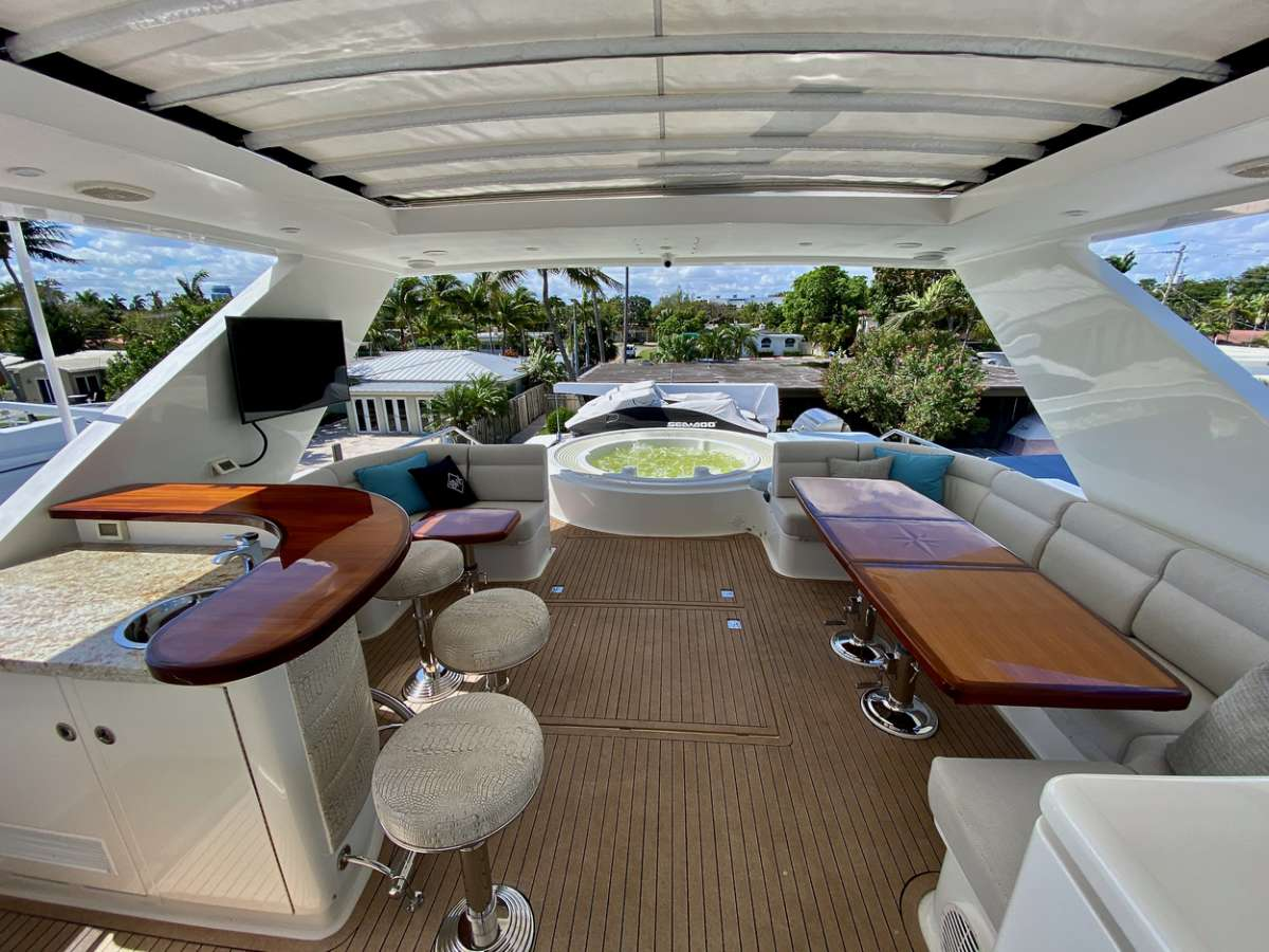 Flybridge view aft